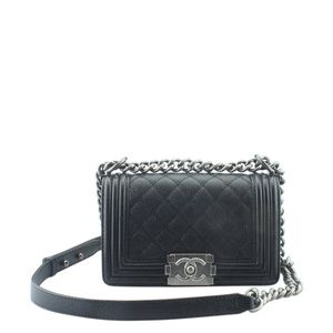 Chanel Boy Black Quilted Crossbody Bag 165339